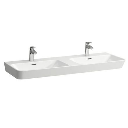 814542 - Laufen Moderna 1240mm x 465mm Double Washbasin - 8.1454.2